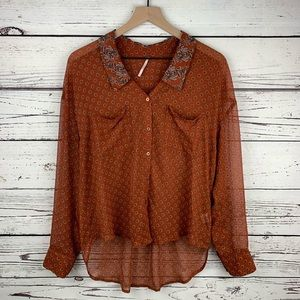 Free People Easy Rider Button Down